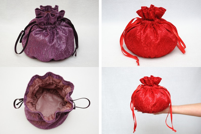 Drawstring Candy bag for Sweets bag Jewelry bag Travel Tote image 1