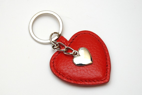 Red Heart Keyring Womens gift for her Coworker gift Leather  8164dea68c