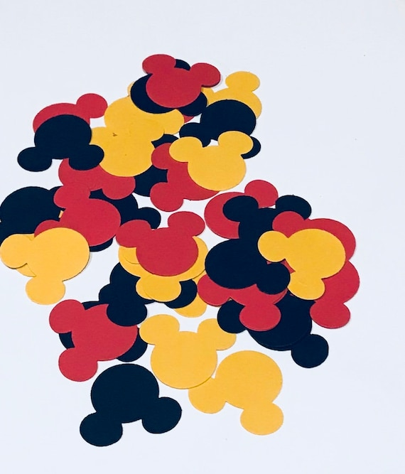Mickey Mouse Confetti Mickey Mouse Verjaardag Mickey Mouse Etsy