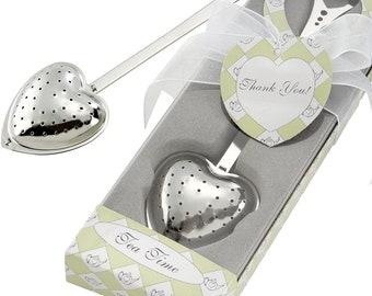 Stainless Steel Tea Infuser Heart Shape Tea Party Favor for Bridal Shower Favor, Mothers Day Gift for Mom, Tea Lover Gift, Best Friend Gift