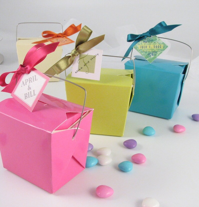 Take Out Boxes 6 boxes  Colored Party Favor Boxes  Candy image 0