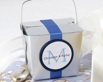 Silver Take Out Boxes (12 boxes), Party Favor Box, Wedding Favor Box, Mini Takeout Box, Silver Anniversary Favor Box, Candy Box, Treat Box