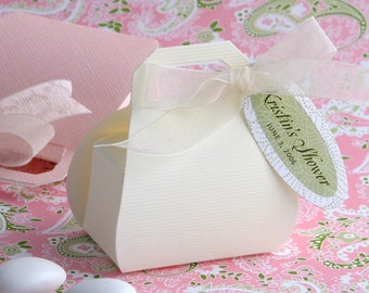 Wedding Favor Box (10 boxes), Mini Purse Favor Box, Party Favor Candy Favor Box, Small Favor Box, Gold Favor Box, White Favor Box, Treat Box