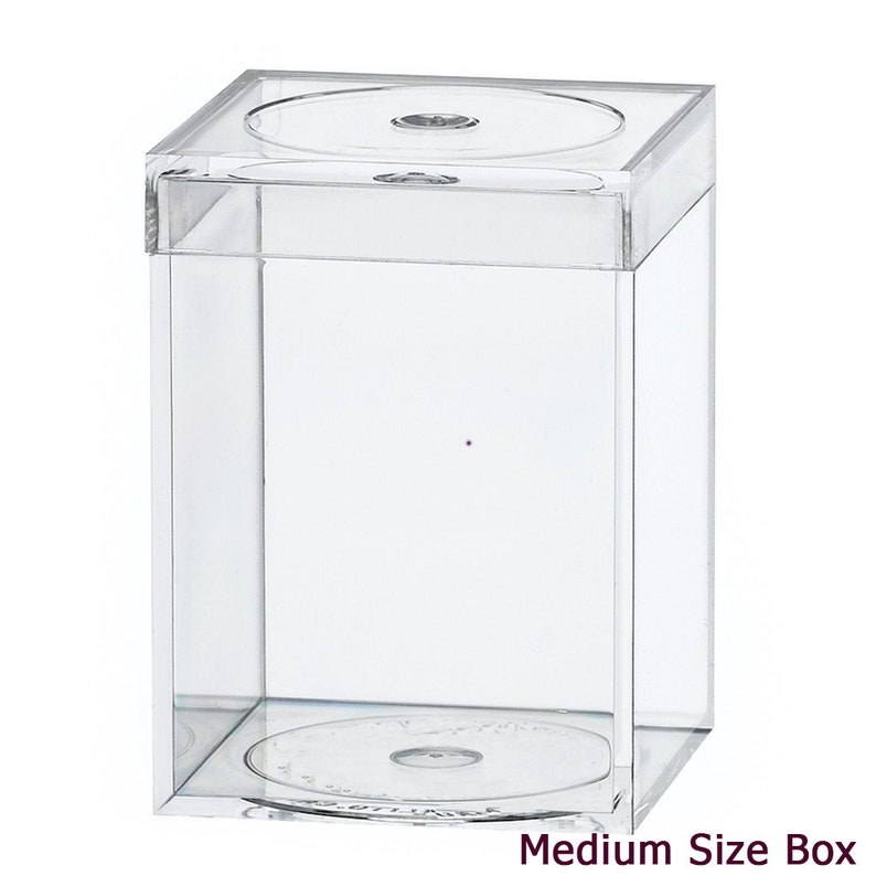 Wedding Favor Supplies - Clear Favor Box Set of 25 Crystal Clear Favor Boxes set of 25