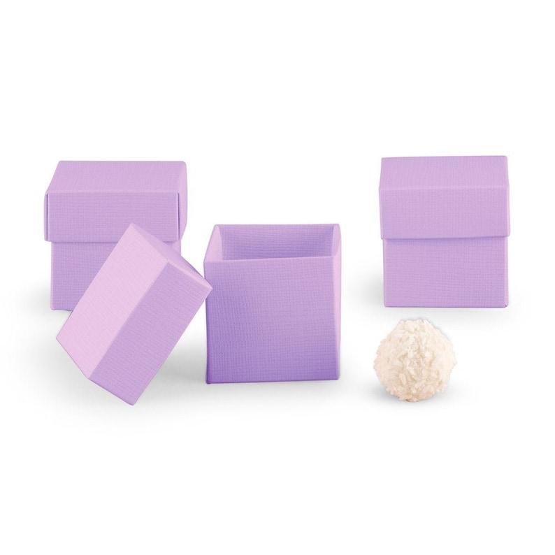 Lavender Favor Box 10 boxes Wedding Favor Boxes 2x2x2 image 0