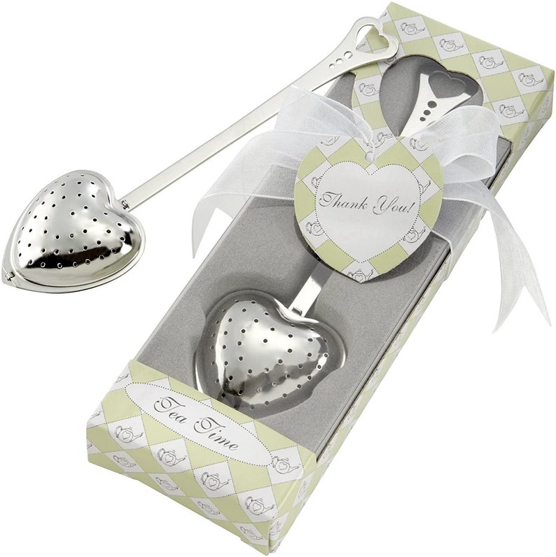 Stainless Steel Tea Infuser Heart Shape Tea Party Favor for image 0