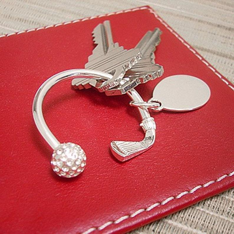 Golfers' Key Ring Keychain Gift for Men Golfers Gift image 0