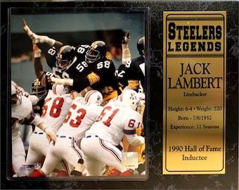53da6d37c 12X15 Stat Plaque - Jack Lambert Pittsburgh Steelers