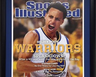 51d4b7efb51 20x24 Custom Frame - Stephen Curry Golden State Warriors SI Cover