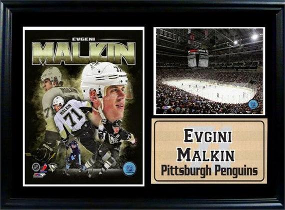 12x18 Photo Stat Frame Evgeni Malkin Pittsburgh Penguins