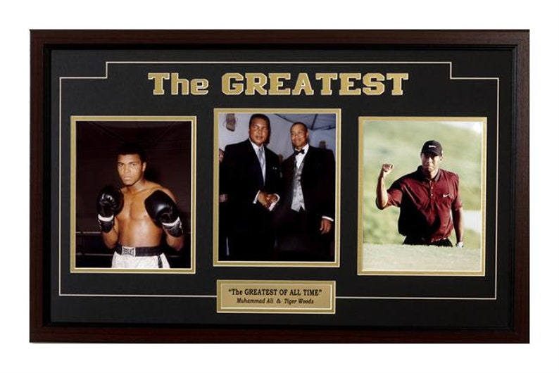 f5d2bcc2448d4 15x35 Three Photo Frame - 'The Greatest' Ali and Tiger Woods