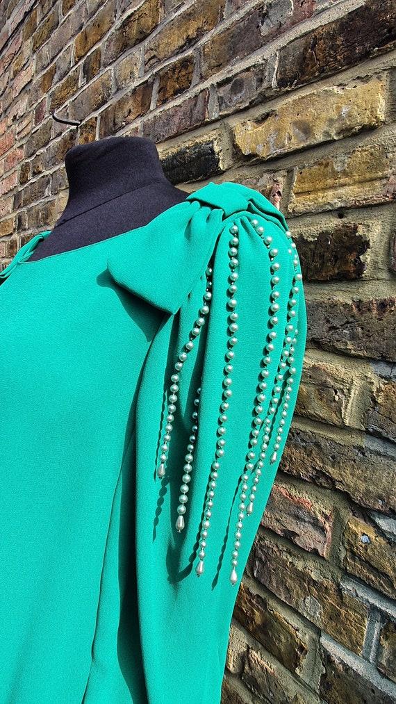Stunning Emerald Green Drop Waist Dress