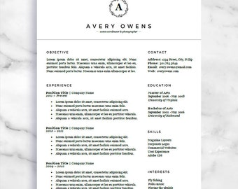 curriculum vitae template and matching business card bundle etsy