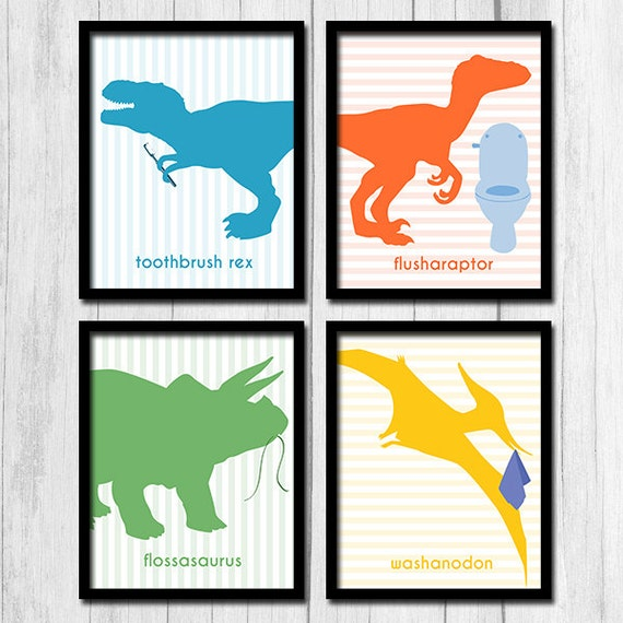 Groovy Dinosaur Bathroom Wall Decor Digital Download Ideas For Kids Bathroom Instant Download Flush Wash Signs Floss Toothbrush Signs Dinosaur Beutiful Home Inspiration Xortanetmahrainfo