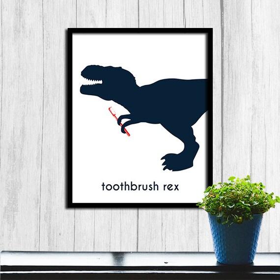 Niños baño arte cepillo de dientes Rex niños baño  0570c7c13b81