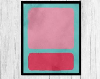 Coral Printable Pink Printable Digital Download Abstract Art Print Modern Art Print Coral and Pink Print Abstract Coral Abstract Pink Prints
