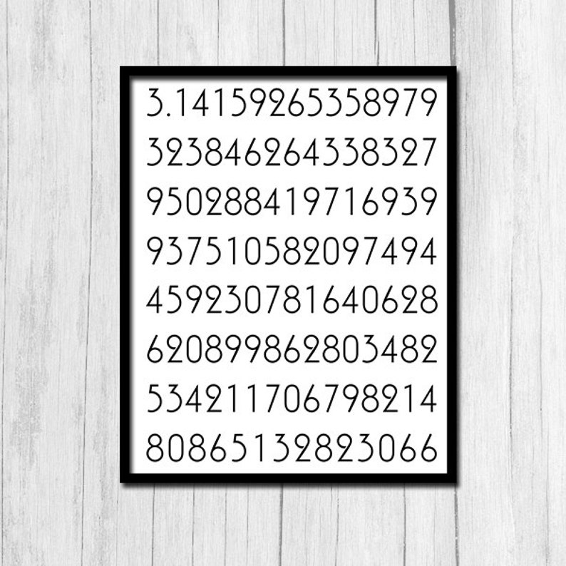 photo about Pi Printable referred to as Pi Poster Printable Artwork Digits of Pi Math Poster Fast Obtain Math Items Amount Print Selection Printables Electronic Obtain Math Printable