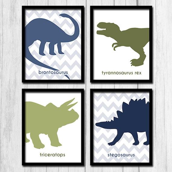 Olivgrun Und Blaupausen Dinosaurier Zum Ausdrucken Chevron Etsy