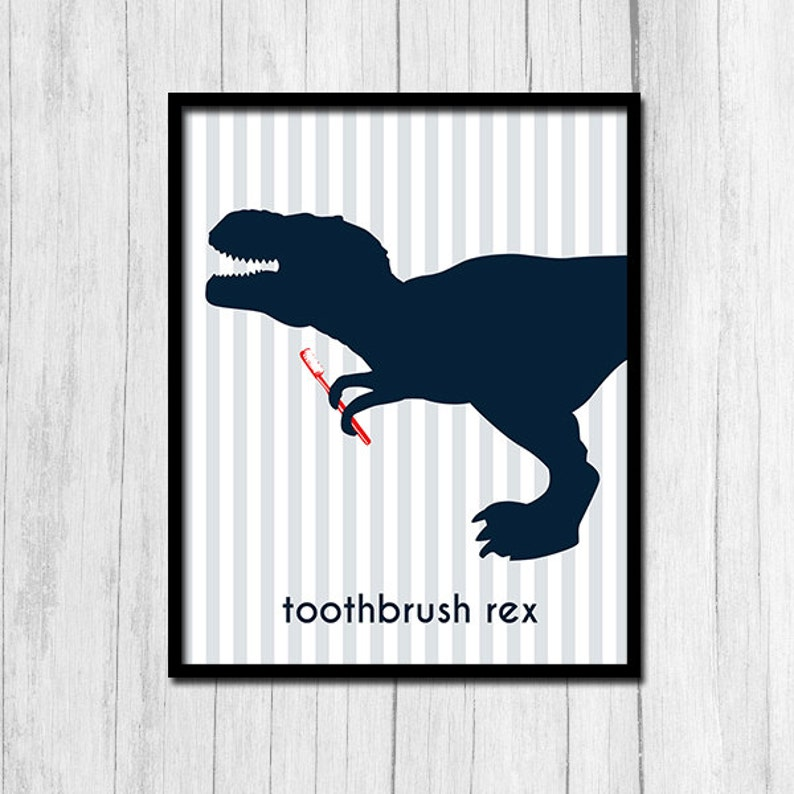 Brilliant Tyrannosaurus Rex Printables Dinosaur Bathroom Decor Instant Download Trex Prints Download Free Architecture Designs Jebrpmadebymaigaardcom