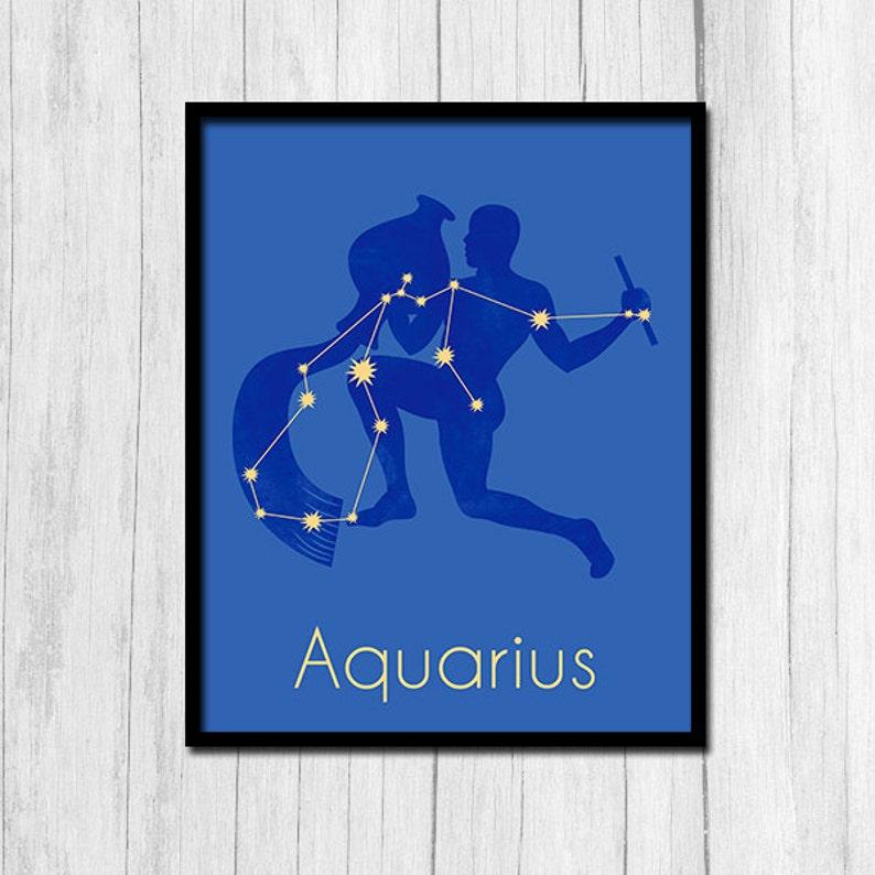 Aquarius Print Aquarius Zodiac Astrological Sign Poster Zodiac Sign Digital  Download Horoscope Print Astrological Sign Print Aquarius Prints