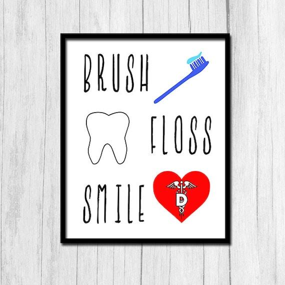 Dentist Office Decor Digital Download Dentist Office Wall Art | Etsy