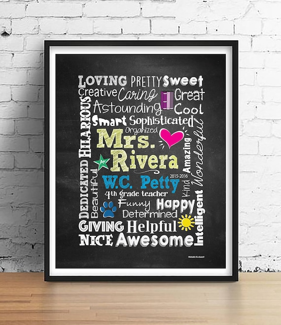 PERSONALISED TEACHER PRINT THANK YOU GIFT PRESENT CAN BE FRAMED MARY POPPINS