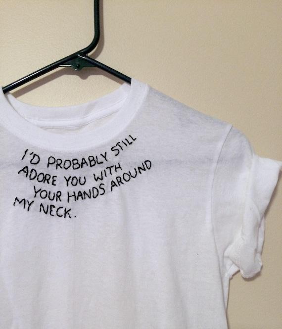 Arctic Monkeys 505 Lyrics Hand-embroidered Shirt Song Neck