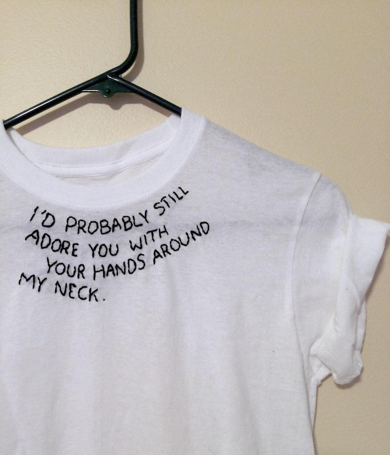 a41401ec Embroidered Shirt Design Arctic Monkeys Tee 505 Lyrics | Etsy