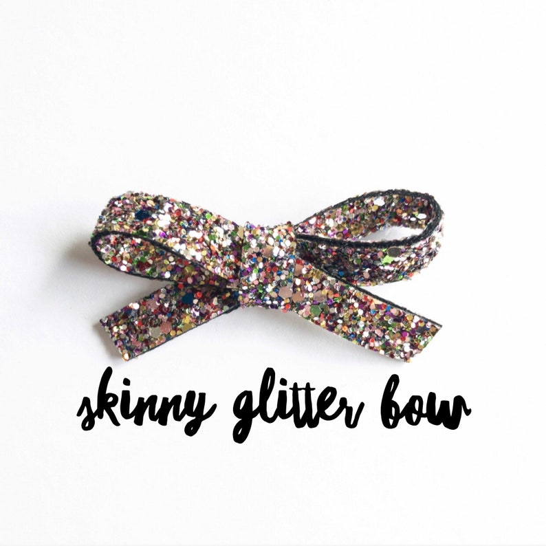 Kaleidoscope Glitter Hair Bows  Baby Headband  Hair Bow on Nylon Band  Toddler Hair Clip  Glitter Hair Piece  School Girl Hair