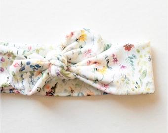 Wildflower · Top Knot Headband / Adjustable Headband / Head Wrap / Infant Headband / Top Knot / Baby Style / Adult Headband