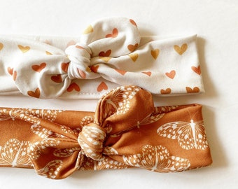 Monarch or Ombré Hearts · Top Knot Headband / Adjustable Headband / Head Wrap / Infant Headband / Top Knot / Baby Style / Adult Headband