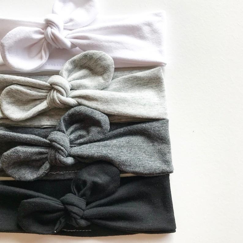 Solid Color  Top Knot Headband / Neutrals / Adjustable image 0