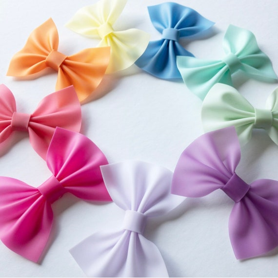 Hot Pink Pool Bow Summer Bow Waterproof Bows Girls Pool Bows Pink Jelly Hair Bow Toddler Bow Hot Pink Jelly Bow Jelly Bows