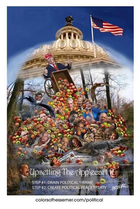Drain The Swamp Politics Political Satire Make America Etsy