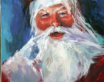 Santa Claus Painting | Holiday Print | Christmas Print | Santa Claus | Holiday Art | Download Print