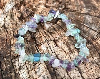 Gemstone Chip Fluorite Bracelet