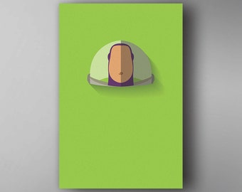 Buzz Lightyear Inspired. Minimalistic. Toy Story. Movie Poster. Wall Art.