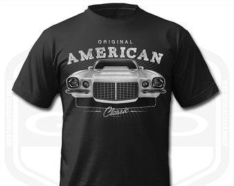 fc2c5b3c Chevrolet Camaro SS Classic Muscle Car Mens T-Shirt Black   Supercharged V8  Petrolhead Hotrod Street Rod Garage Mechanic