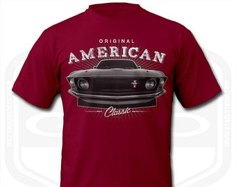 American Muscle Ford Mustang GT Red Modern /& Classic Hotrod Sweatshirt