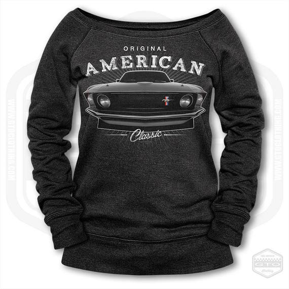 Ford Mustang Muscle Car Womens Off Shoulder Women s  3b781ea1d3