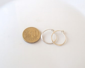 "Small 0.6""(1.5mm) Hoop Earrings-Tiny Silver Hoops -Sterling Silver Hoop Earrings- -Minimalist  Silve"