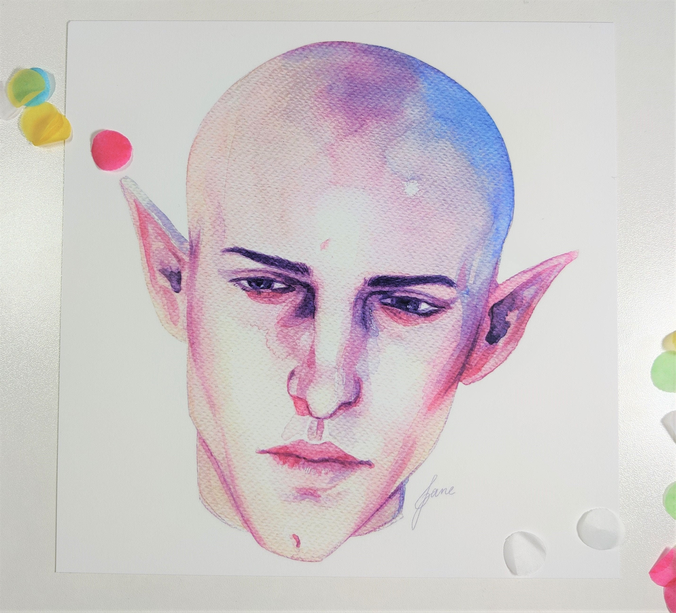 Solas Dragon Age Print 350gsm Matte Art Print Of Original Etsy