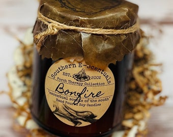 Bonfire, Wood Wick Candle, Soy Candle, Campfire, Fireplace, Man Cave Candle, Gift for Him, Mens Candle, Boyfriend Gift, Fathers Day Gift