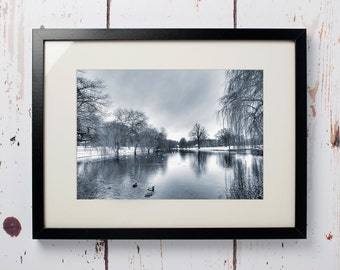 Winter lake  - Print only (12 x 8)