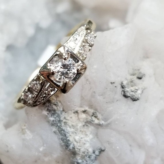 Vintage Engagement Ring | Diamond Engagement Ring
