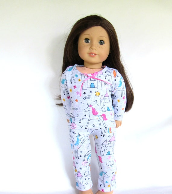 Unicorn Pajamas Fits 18 inch American Girl  Dolls