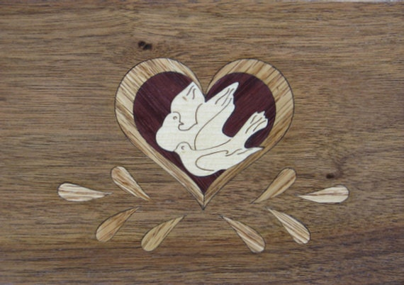 "4""x 5"" Marquetry Project Kit - Lovebirds"