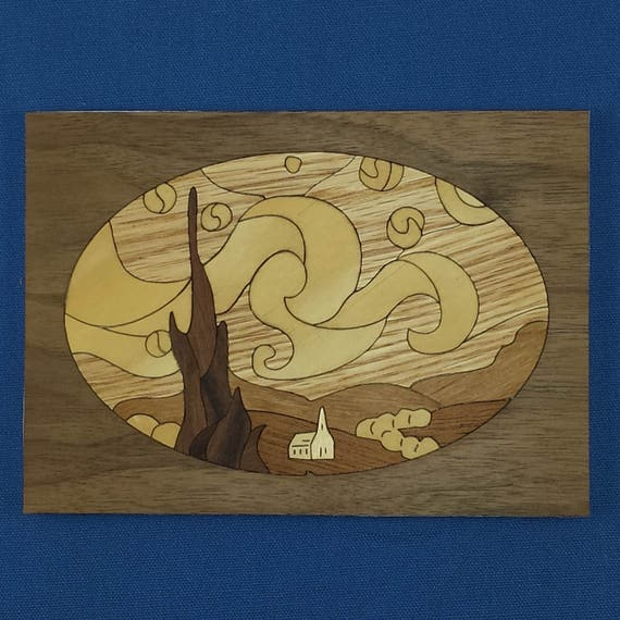 "5""x 7"" Marquetry Project Kit - Starry Night"