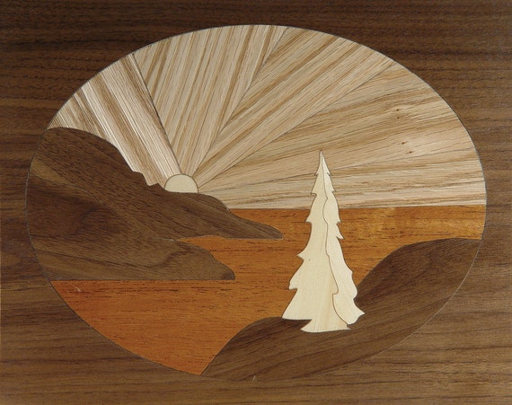 "4""x 5"" Marquetry Project Kit - Pacific Sunset"