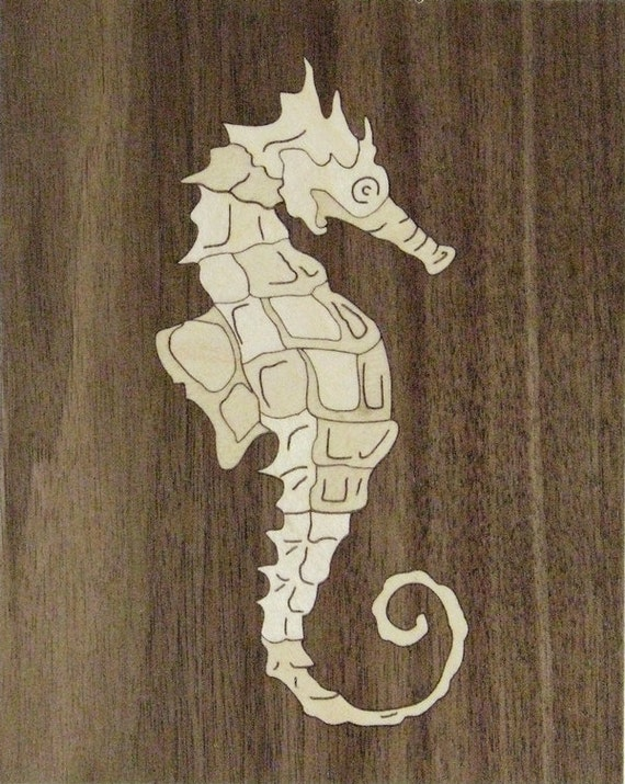 "4""x 5"" Marquetry Project Kit - Seahorse"
